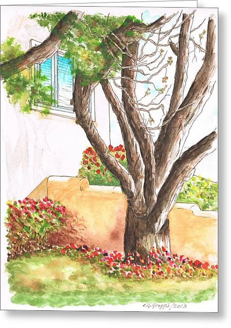 Big Trunk In Selma Ave - West Hollywood - California Greeting Card by Carlos G Groppa