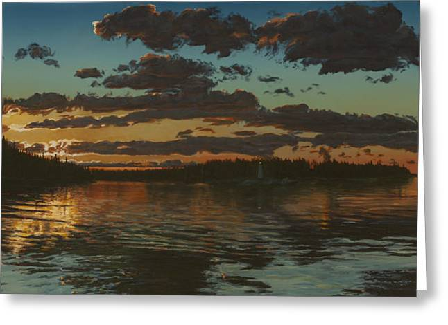 Big Tub Sunset Greeting Card by Michael Marcotte