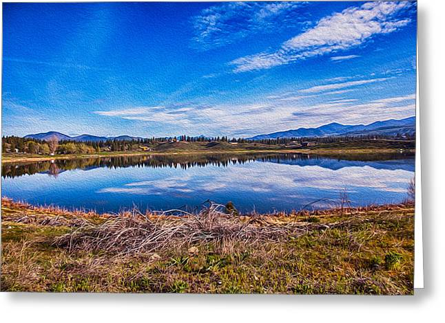 Big Twin Lake Greeting Card by Omaste Witkowski