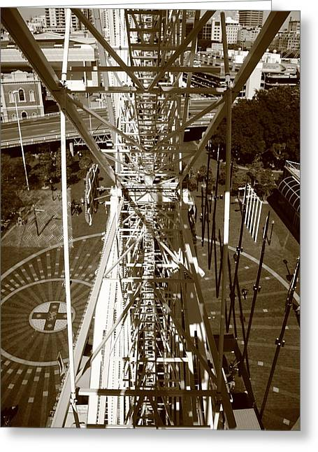 Darling Harbour Big Wheel.  Greeting Card