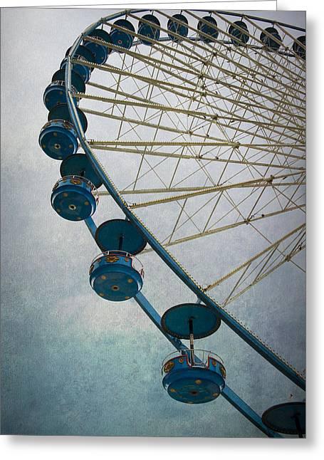 Big Wheel In Blue Greeting Card