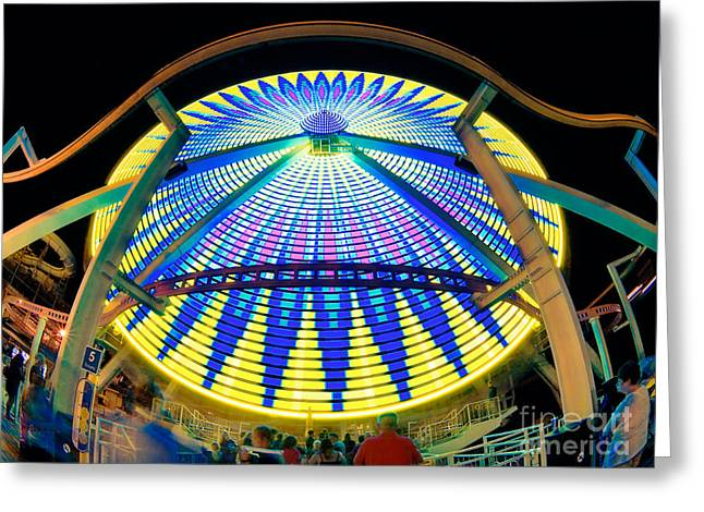 Big Wheel Keep On Turning Greeting Card