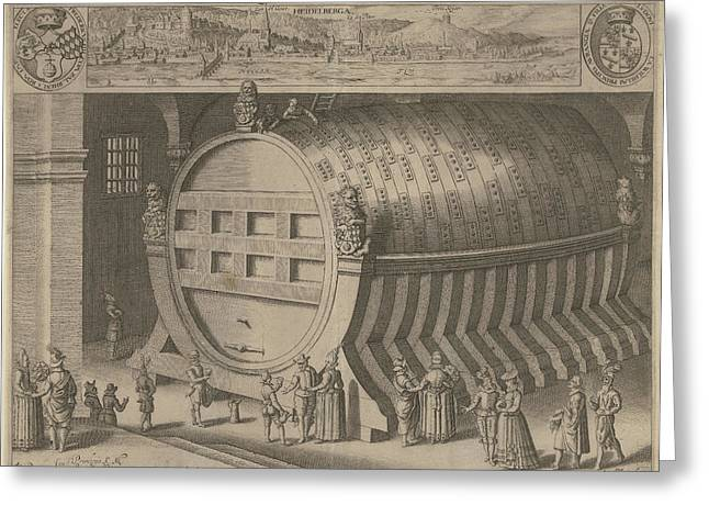 Big Wine Barrel Heidelberg Greeting Card