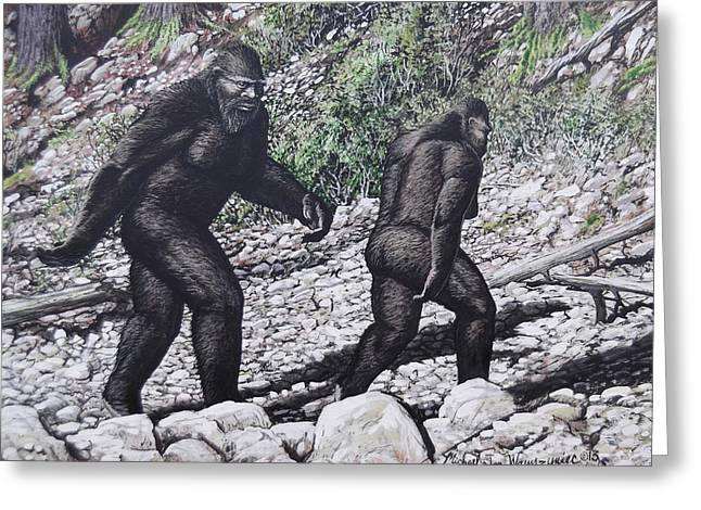 Bigfoot Couple Greeting Card