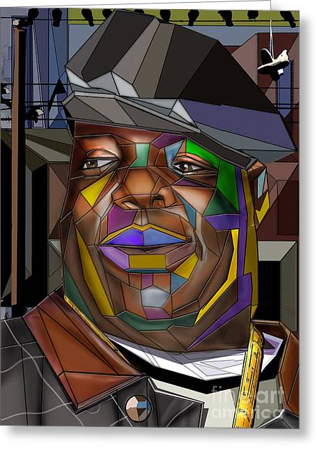 Biggie Living In Color Greeting Card