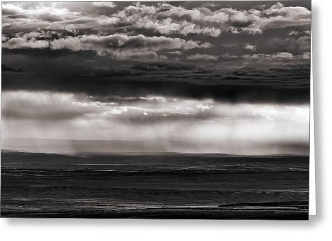 Bighorn Basin Storm Greeting Card by Leland D Howard