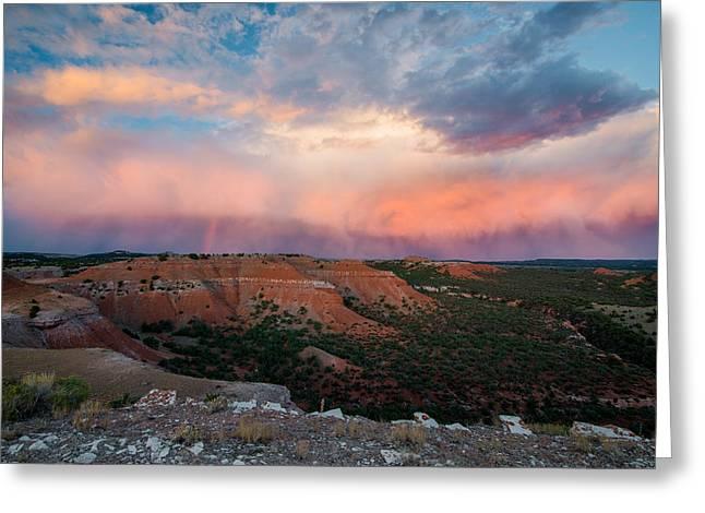 Bighorn Basin Sunset Greeting Card by Leland D Howard
