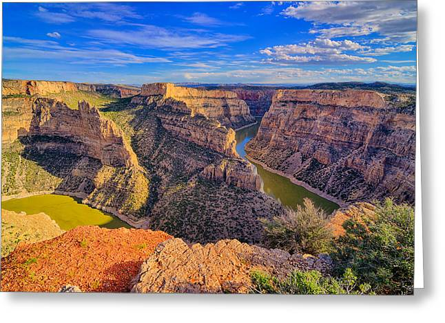 Bighorn Canyon Greeting Card by Greg Norrell