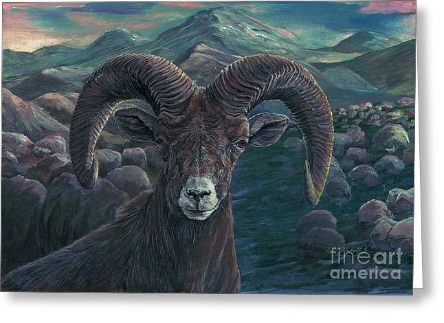 Bighorn Sheep Greeting Card by Tom Blodgett Jr