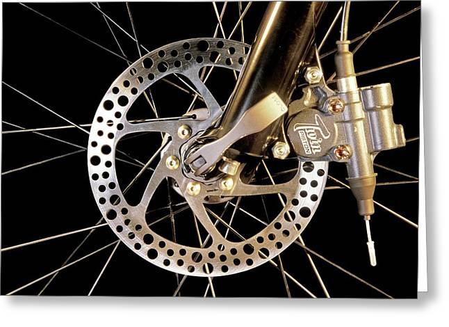 Bike Disc Brake Greeting Card by Patrick Landmann