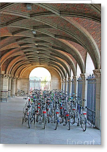 Bike Excluded From The Group Greeting Card by Alain Michiels