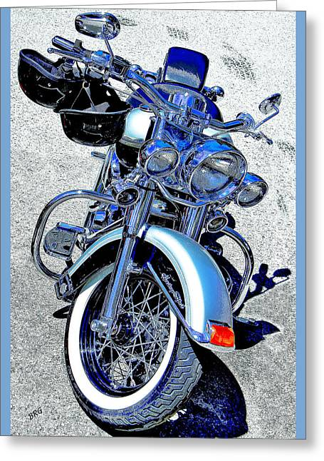 Bike In Blue For Two Greeting Card by Ben and Raisa Gertsberg