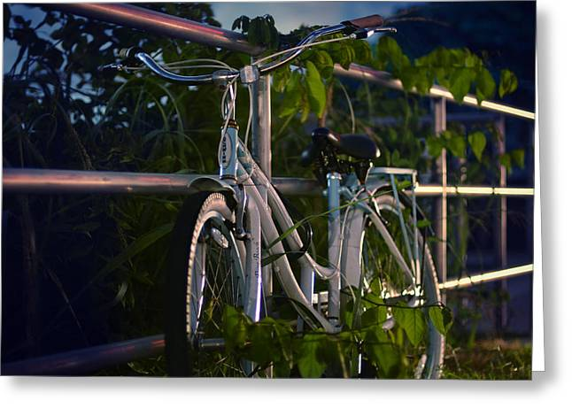 Bike Noir Greeting Card by Laura Fasulo