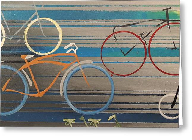 Bike Path I Greeting Card by Vivian Mora