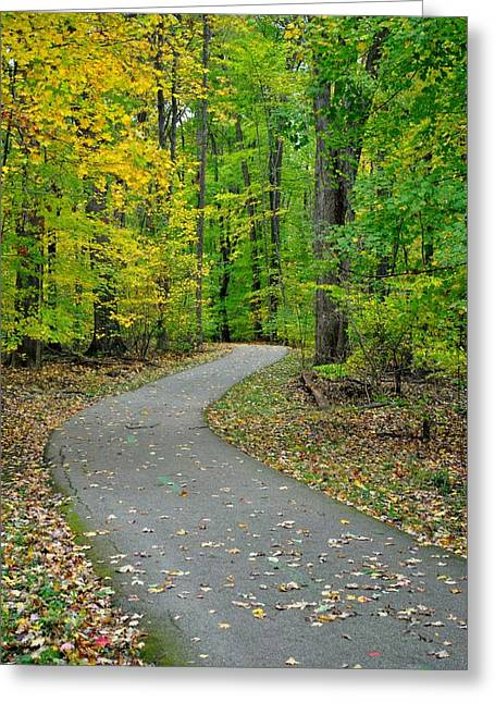 Bike Path Greeting Card by Frozen in Time Fine Art Photography