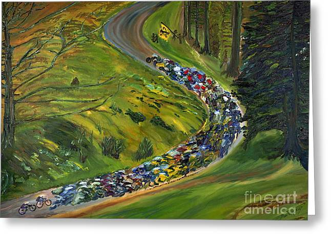 Bike Race Belgium Arden Spring Classics Greeting Card by Gregory Allen Page