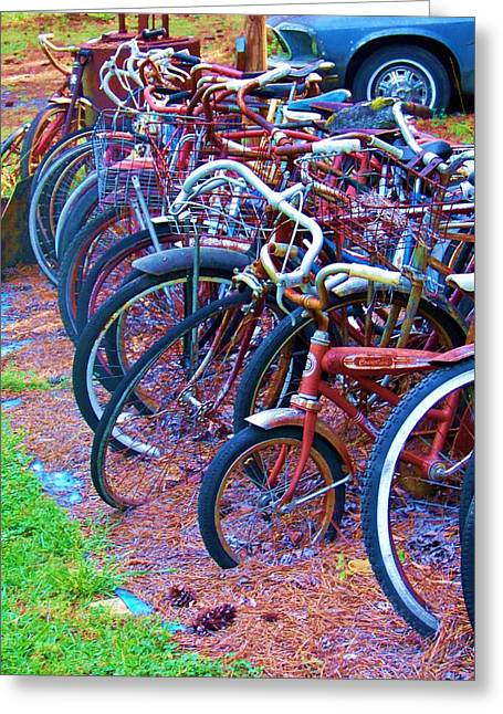 Bike Rack Greeting Card by Chuck  Hicks
