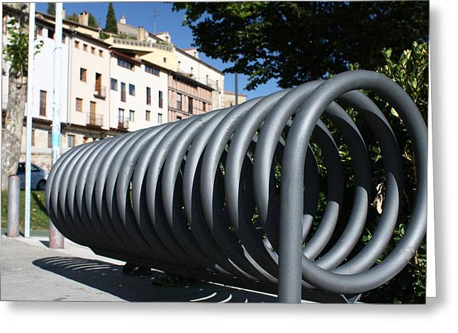 Greeting Card featuring the photograph Bike Rack by Farol Tomson