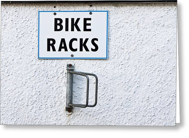 Bike Racks Greeting Card by Tom Gowanlock