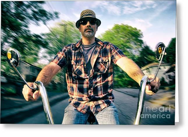 Bike Ride Greeting Card by Mark Miller
