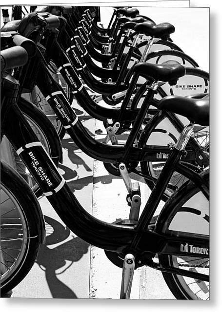 Bike Share Toronto Greeting Card by Debbie Oppermann
