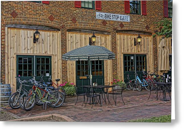 Bike Shop Cafe Katty Trail St Charles Mo Dsc00860 Greeting Card
