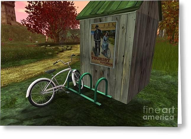 Bike Stand Greeting Card