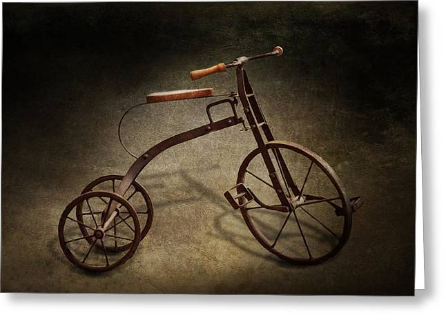 Bike - The Tricycle  Greeting Card by Mike Savad