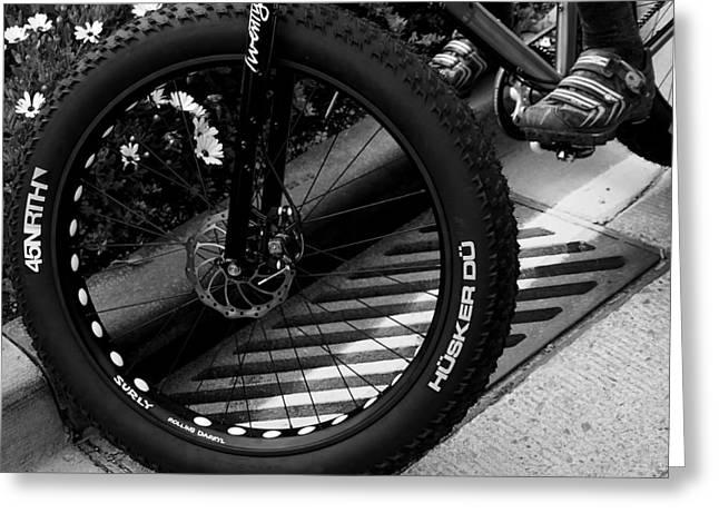 Bike Tire Greeting Card