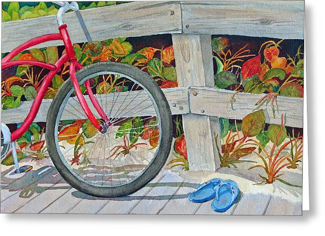 Bike To The Beach Greeting Card