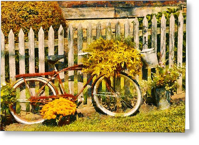 Bike - Zoar Oh - The Ride Is Never Over Greeting Card by Mike Savad