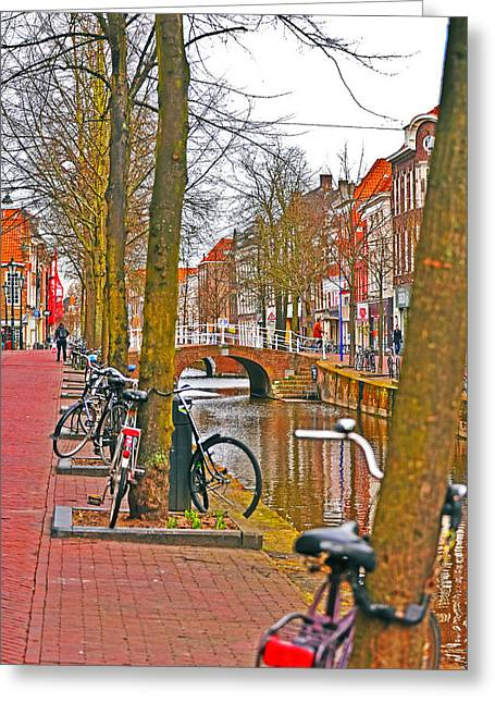 Bikes And Canals Greeting Card