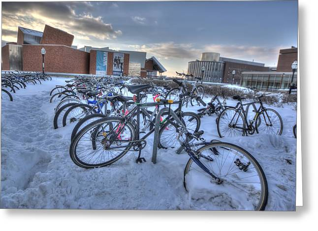 Bikes At University Of Minnesota  Greeting Card
