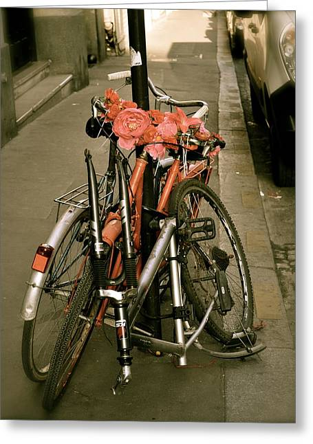 Bikes In Italy Greeting Card