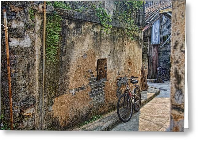 Bikes Greeting Card by Karen Walzer