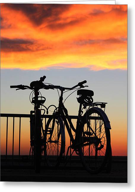 Bikes West Meadow Beach New York Greeting Card