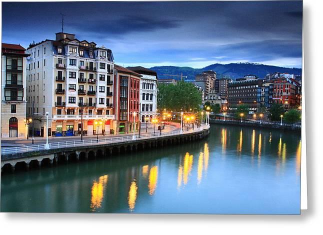 Greeting Card featuring the photograph Bilbao 2 by Mariusz Czajkowski