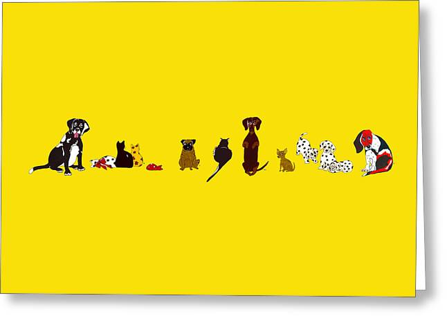 Bill And Friends Greeting Card