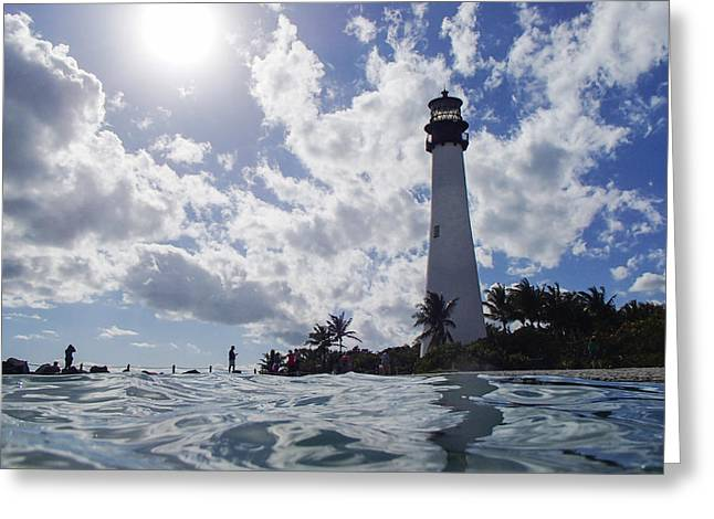 Bill Baggs Lighthouse On Key Biscayne Greeting Card by Toby McGuire