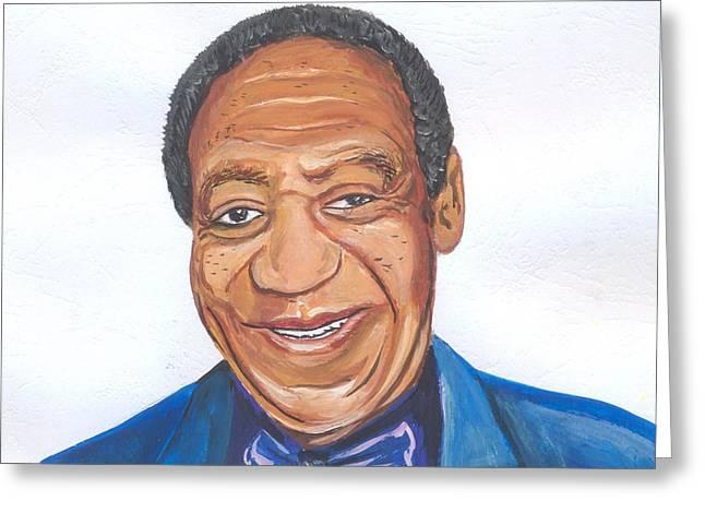Bill Cosby 02 Greeting Card by Emmanuel Baliyanga