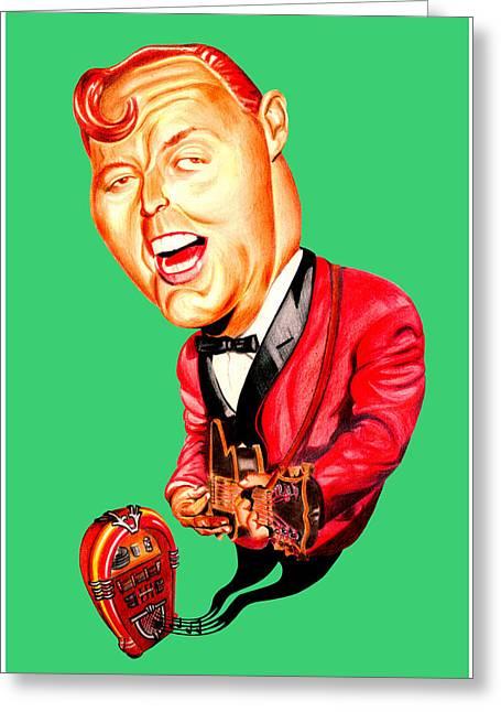 Bill Haley Greeting Card by Diego Abelenda