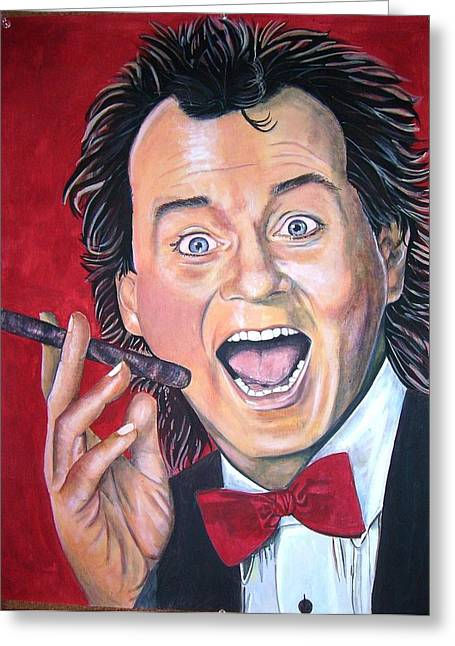 Bill Murray Greeting Card by Linda Vaughon