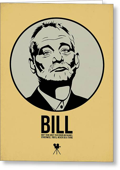 Bill Poster 1 Greeting Card by Naxart Studio