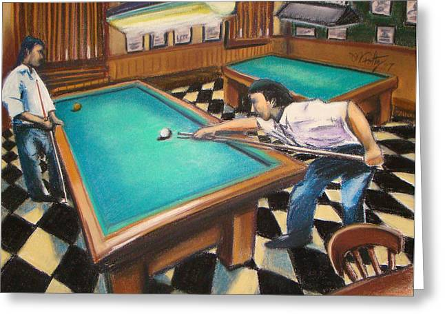 Billiard Hall Greeting Card
