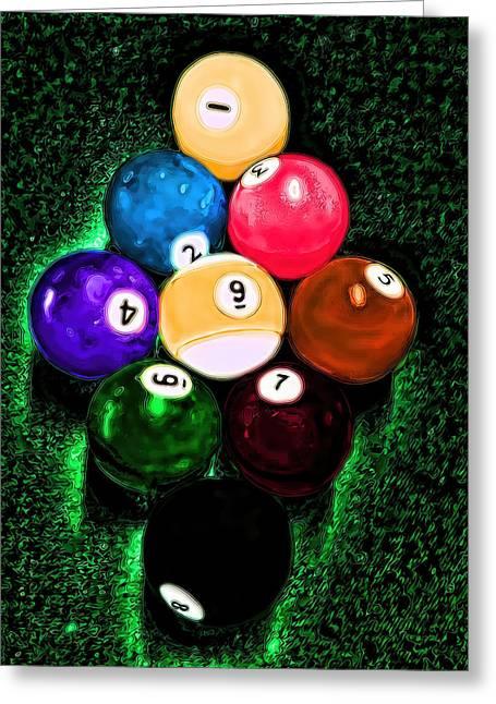 Billiards Art - Your Break Greeting Card by Lesa Fine