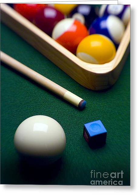 Billiards Greeting Card by Tony Cordoza