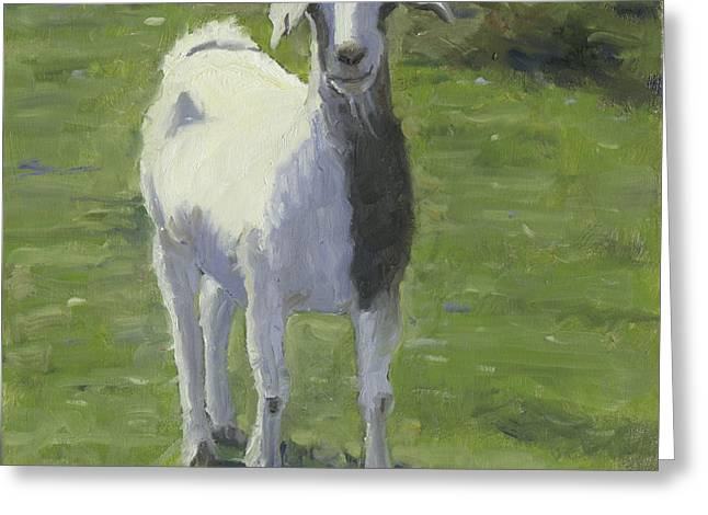 Greeting Card featuring the painting Billie Boy by John Reynolds