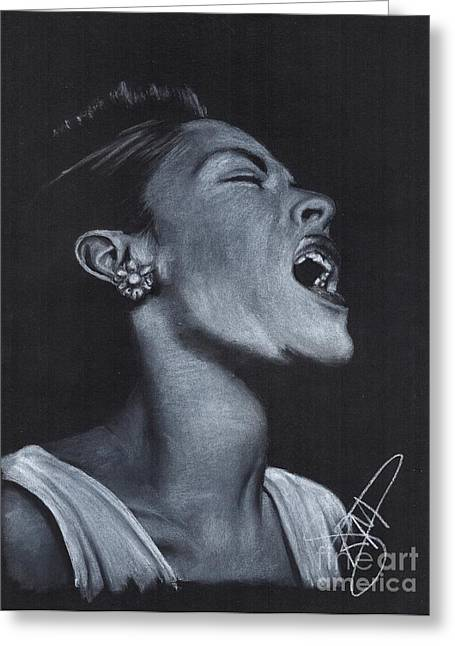 Billie Holiday Greeting Card by Rosalinda Markle