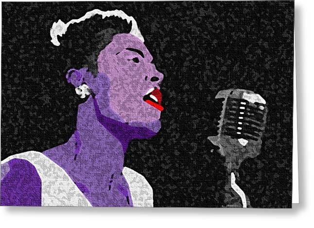 Billie Holliday Lady Sings The Blues Greeting Card