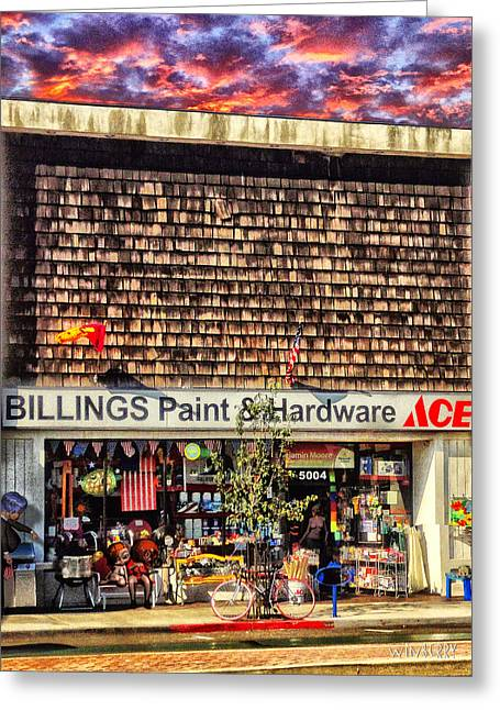 Billings Hardware Greeting Card by Bob Winberry